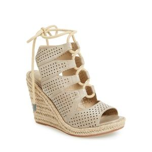 JOHNSTON & MURPHY Mandy Perforated Wedge Sandals